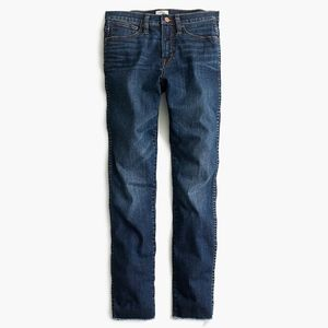 JCREW Vintage Straight Jeans Mayville Wash Cut Hem